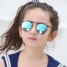 Модный New Модные Детские Мальчики Девочки Детские Солнцезащитные Очки Металлический Каркас для Детей Очки cat eye 2017 люнет de soleil enfant 1901