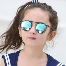 Trendy New Fashion Baby Boys Girls Kids Sunglasses Metal Frame Child Goggles cat eye 2017 lunette de soleil enfant 1901
