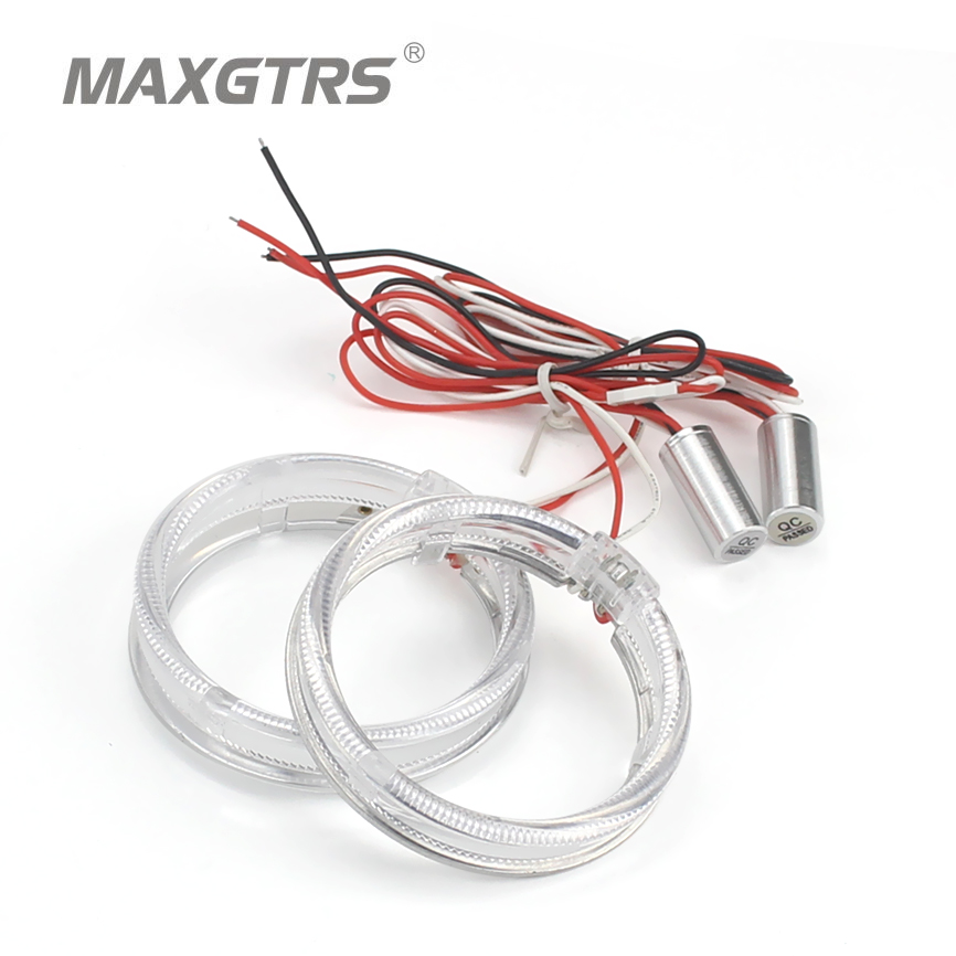 2x 2.5 3.0 pulgadas Guía del automóvil Led Angel Eyes Light Halo Rings DRL para faros de coche de 80 mm 95 mm Proyector HID de motocicleta