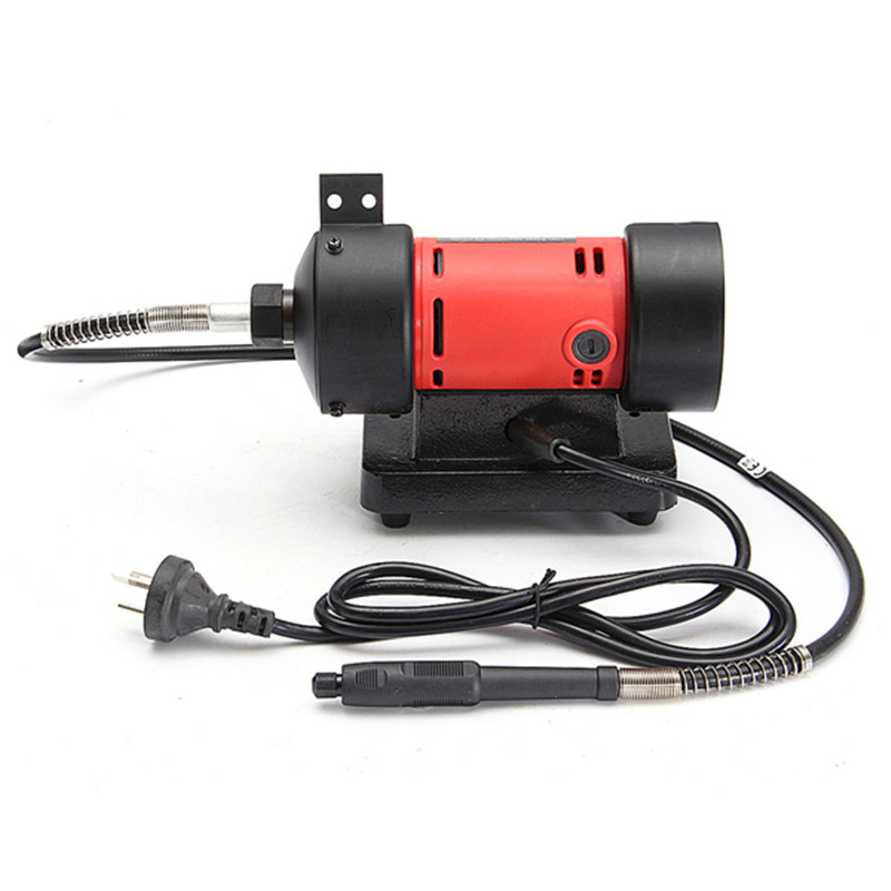 Doersupp Mini Bench Grinder Rotary Die Flex Shaft Buffer Grinding Polish Stone Wheel Tool In