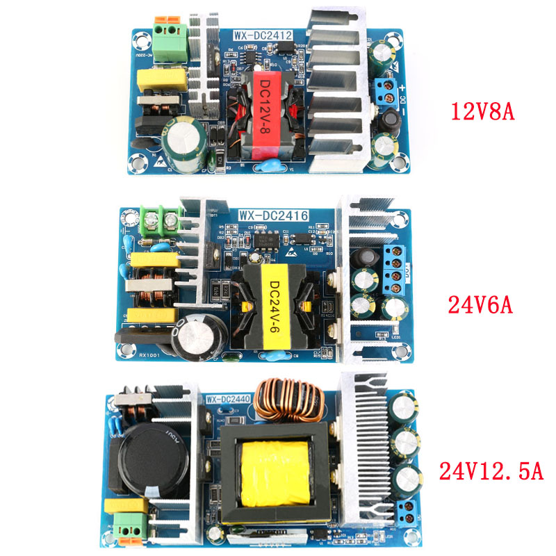 AC-DC For Power Supply Module AC 110v 220v to DC 12V8A 24V6A 24V12.5A Switching Power Supply Board PromotionAC-DC For Power Supply Module AC 110v 220v to DC 12V8A 24V6A 24V12.5A Switching Power Supply Board Promotion
