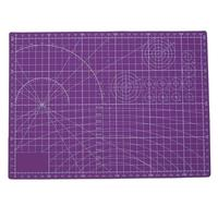 Purple Plastic Cutting Mat Pad PVC Self Healing A4 Office Home Paper Craft DIY Tool Escolar