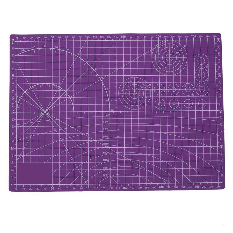 все цены на Purple Plastic Cutting Mat Pad PVC Self-Healing A4 Office Home Paper Craft DIY Tool Escolar Double Sided Scale Cutting Board онлайн