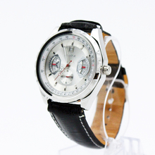 Luxury Brand 2016 Fashion Wristwatch Stainless Steel Clock Male Leather Strap Mechanical Watch Fashion Casual 3M