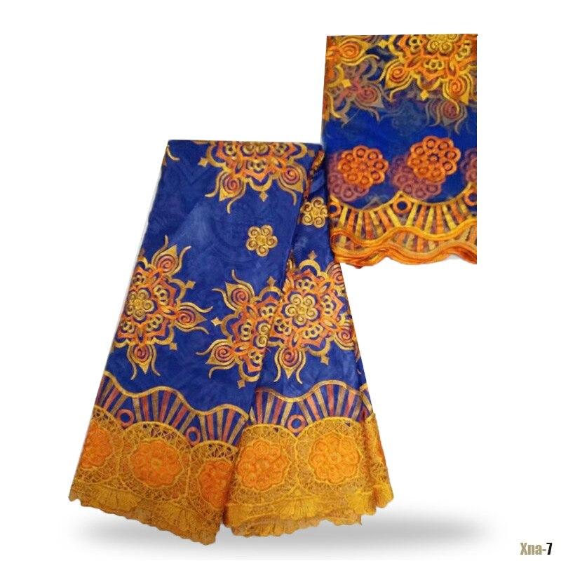 ᐂ2017 Novo Projeto Do Bordado Tecido de Renda Africano Bazin Riche ... 317e8b515accd