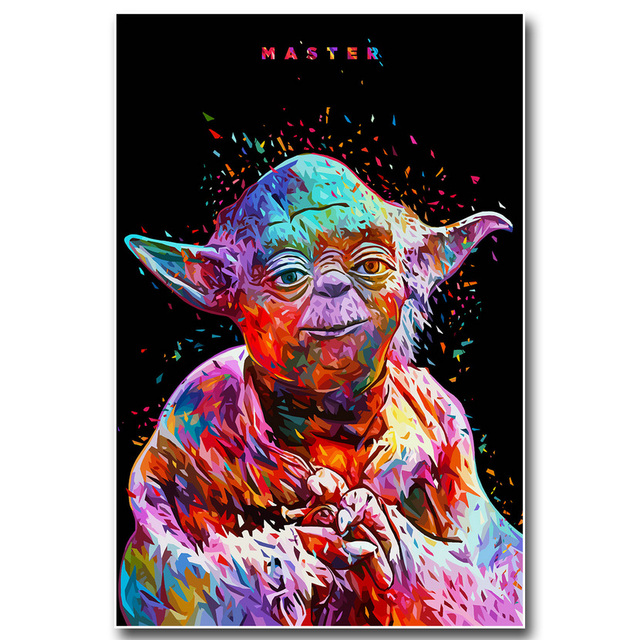 MASTER Yoda Star Wars 7 The Force Awakens Art Silk Poster Print 13×20 24×36 inch