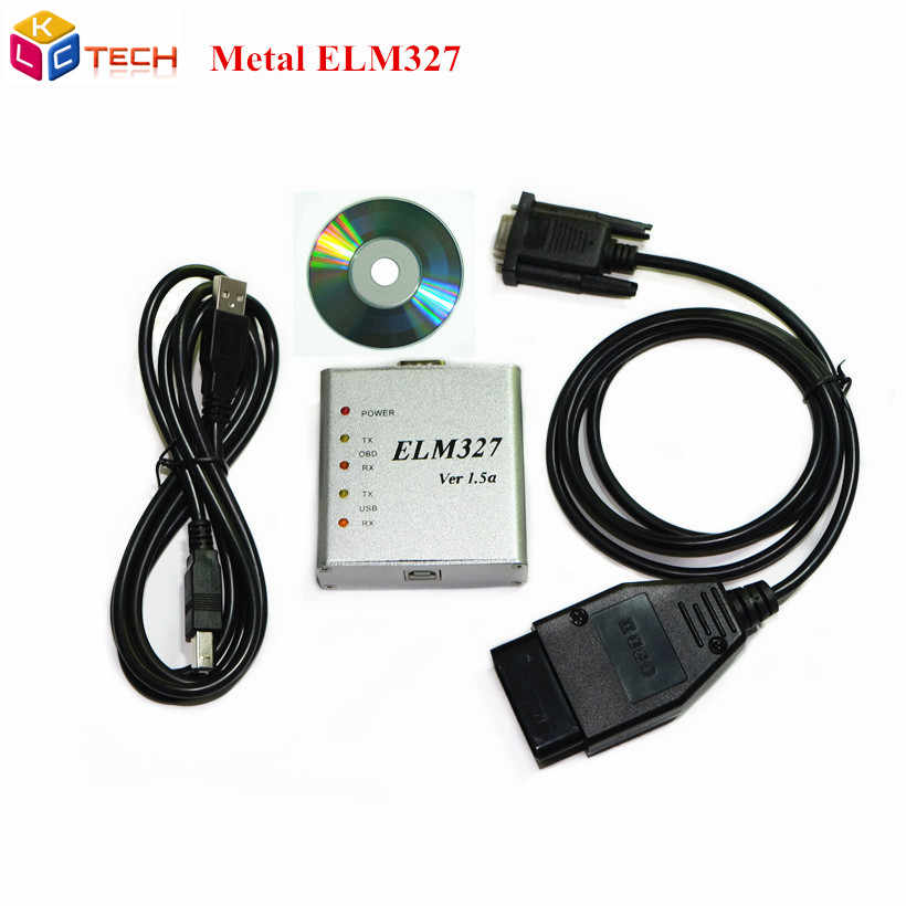 Lowest Price Metal ELM327 Ver 1 5a Software OBD2 code reader USB CAN-BUS  Scanner v1 5a ELM 327 Metal Case