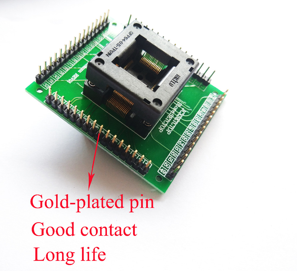 Image 5 - QFP64 TQFP64 LQFP64 гнездо адаптера IC тестовая розетка программист qfp64 гнездо tqfp6 программист adpters-in Интегральные схемы from Электронные компоненты и принадлежности on AliExpress
