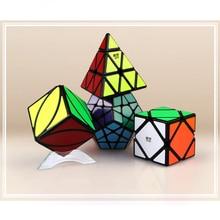 Qiyi Special Shaped Magic Cube Set Educational Toys for Brain Trainning - Black