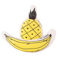 38 50cm Creative Soft Banana Pineapple Plush Pillow Stuffed Lovely Doll Fruits Plants Cushion Birthday Christmas