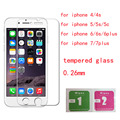 for iphone 5s glass Screen Protector glass on the for iPhone 5s 4s 6 6s 6sPLUS 7 PLUS 5.5 inch Tempered glass 0.26mm Premium