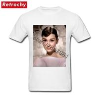 2017 New Popular Audrey Hepburn T Shirt Men Branded Shirt Male Bespoke T Shirt Short Sleeves