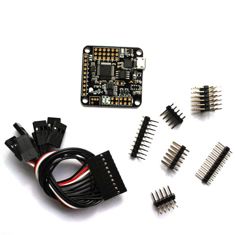 Naze 32 Naze32 6 DOF F Full With Mag And Baro Sensor  Rev6 Black Straight Side Pins + Case For Quadcopter