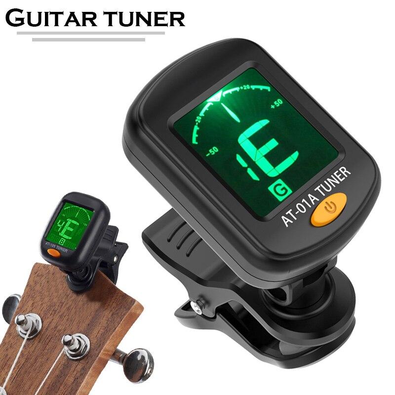 buy clip on electronic digital guitar tuner for chromatic violin ukulele picker. Black Bedroom Furniture Sets. Home Design Ideas