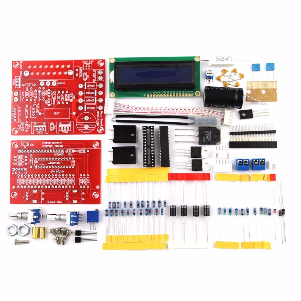 0-28V 0.01-2A Adjustable DC Regulated Power Supply DIY Kit with LCD Display May08 Dropship цена