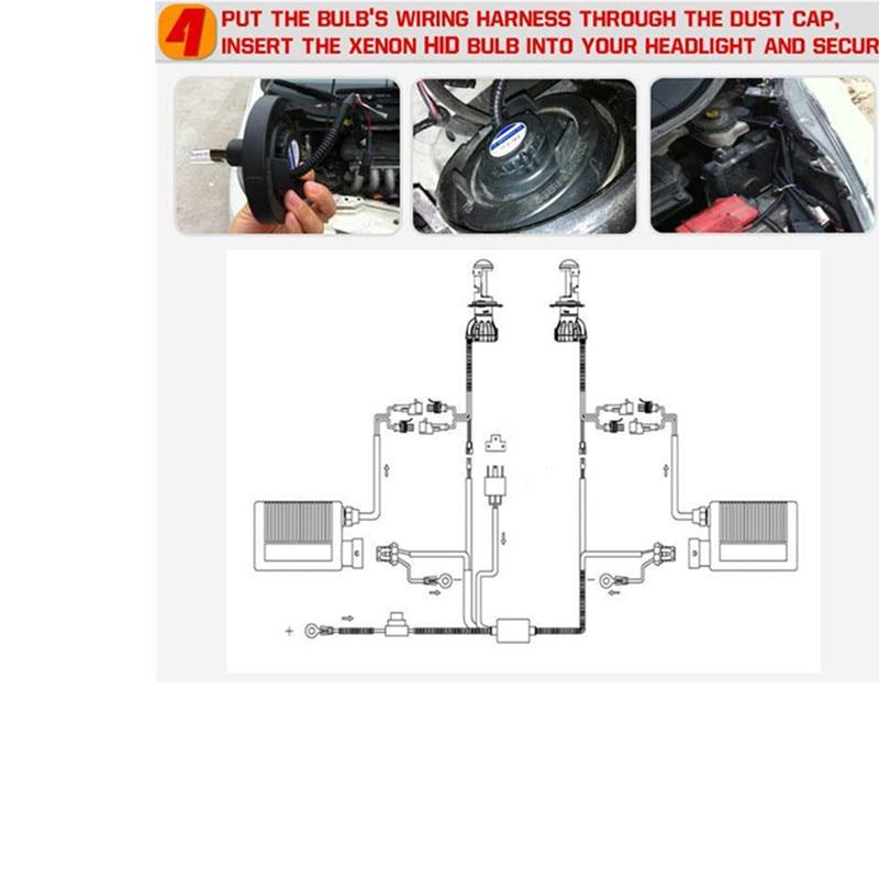 Rockeybright 35W H4 Bi-xenon lampu mentol + 9003 H4-3 xenon mentol - Lampu kereta - Foto 6