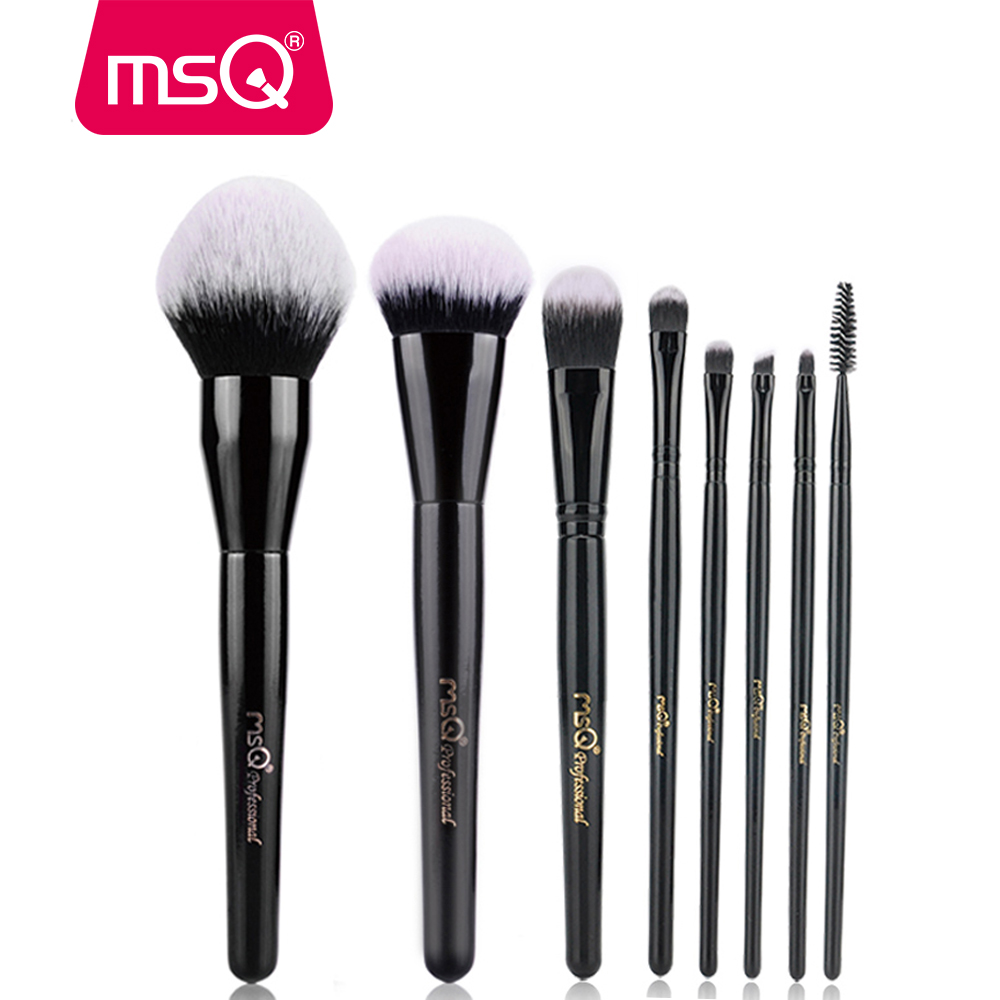 MSQ Makeup Brushes Set Beauty Large Powder Foundation Eyeshadow Eyebrow Make Up Pro Brushes High Quality Synthetic Hair msq 5pcs travel make up brushes high quality synthetic brushes for make up with fashion pink bag
