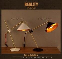 Nordic Retro zakontraktowane z kutego żelaza obrotowy lampa stołowa zwięzłe projektant sypialnia badania tabeli światła darmowa wysyłka
