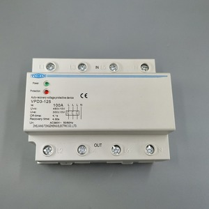 Image 4 - 100A 380V Three Phase four wire Din rail automatic recovery over voltage and under voltage protective protection relay