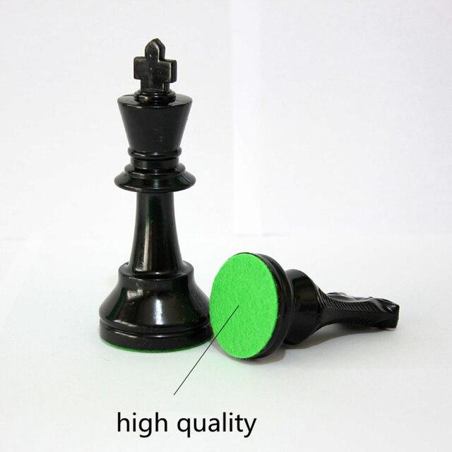 Jeu d'échecs Standard International King 97mm(3.82 pouces), grand jeu d'échecs en plastique avec échiquier, 4 jeux arrière Yernea 4
