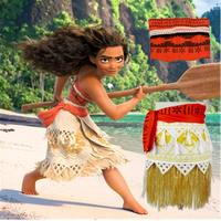 Free Shipping Princess Moana Cosplay Costumes Children Halloween Costume for Girls Party Dress for adult and Kids