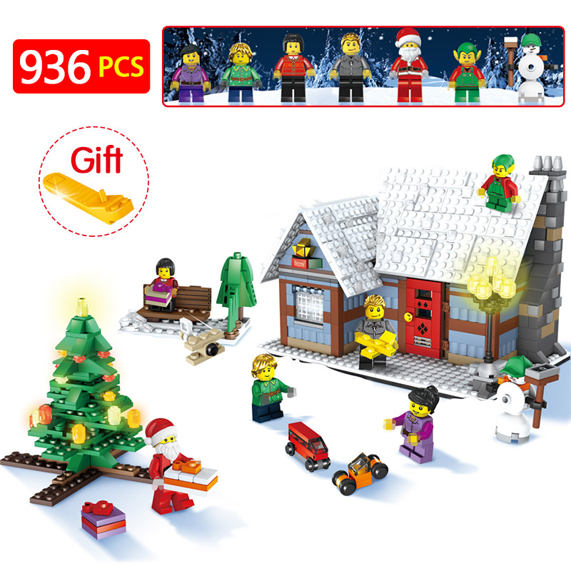 741pcs Snowman Model LegoINGlys Christmas Santa Claus Coming Figure Elk and Sled Building Blocks Set Model Kits Toys for Kids 12cm 9cm high gas consumption decal fuel gage empty stickers funny vinyl jdm car stickers car styling black sliver