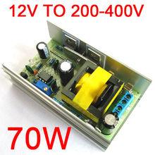Convertidor elevador de alta tensión ajustable de 70W cc 12V 24V a 200 450V convertidor de aumento para condensador de tubo luminoso de carga nuevo