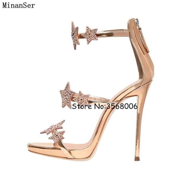546601ed53281 Newest Shinny Rhinestone Thin Heels Lady Dress Shoes Gladiator Buckle Strap  Open Toe Summer Sandals Sexy