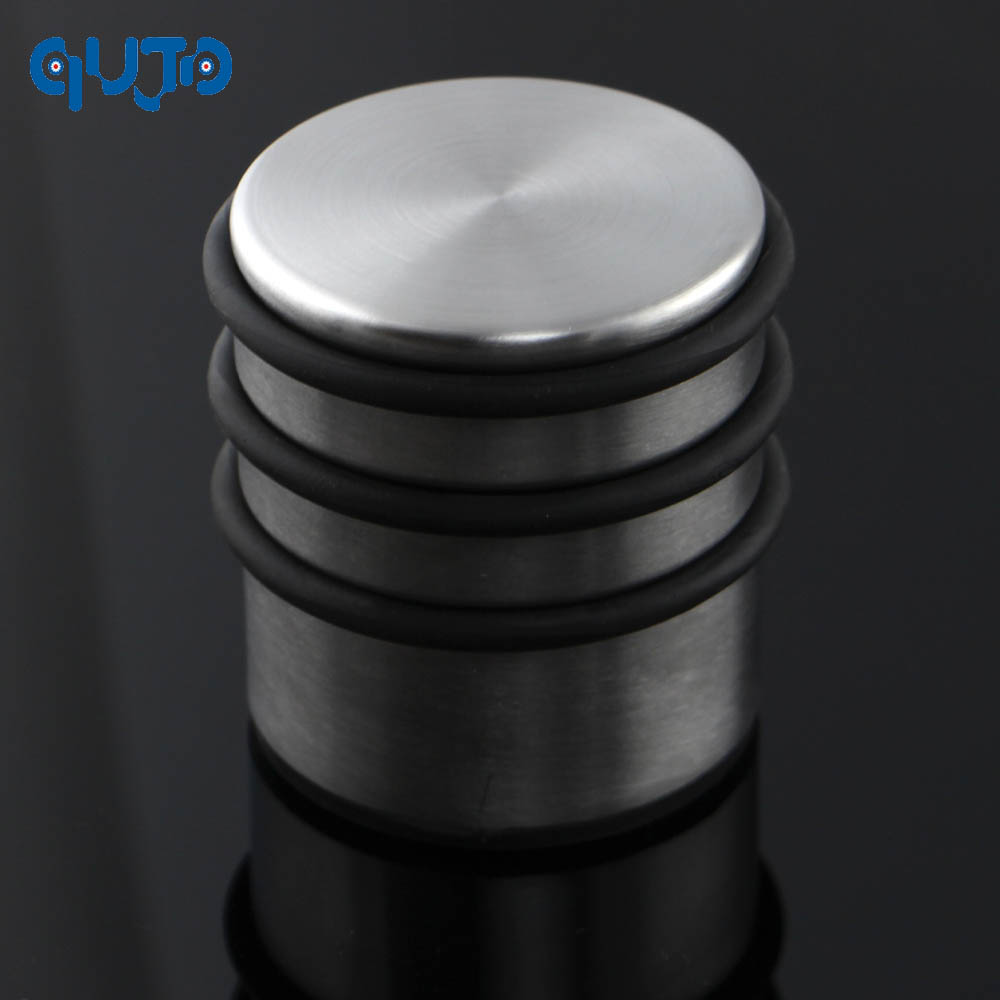 round heavy weight duty door stop rubber nonslip floor protector stopper metal stainless steel