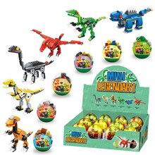 6pcs/set Dinosaurs Jurassic World Dinosaurs Figures Tyrannosaurus Building Blocks Classic Compatible with Legoings Kids Toy цена и фото