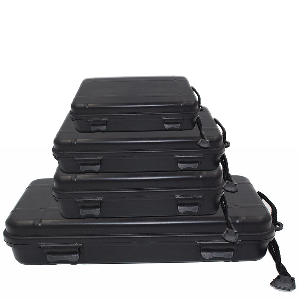 Universal Waterproof Anti Fall Black Plastic Storage Box For Flashlight Light Torch Lamp Battery Charger Case Holder For Gift