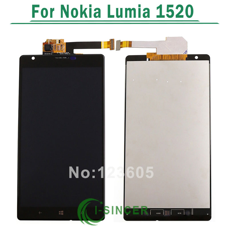 1/PCS black For Nokia Lumia 1520 LCD Display Screen Touch Digitizer Assembly Free Shipping