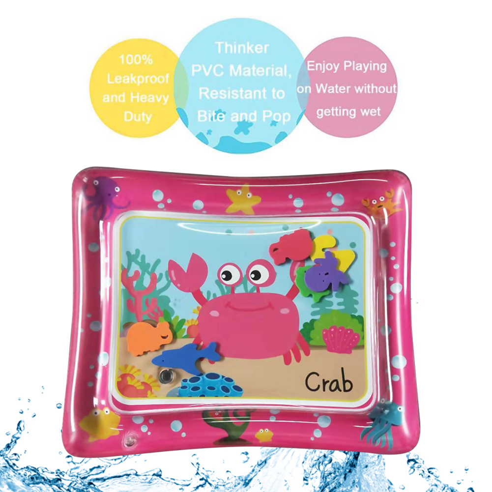 60x50cm Cartoon Baby Infants Inflatable Tummy Time Activity Water Play Mat Airtight Fun Game Tool Water Cushion Pad Summer Toy
