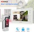 REDEAGLE проводной видео телефон двери 7 дюймов TFT-LCD цветной экран Всепогодный ночного видения дверной Звонок камера для квартиры вилла