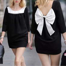 2016 Summer pregnant Women Maternity Black Dress Pregnancy Clothing Women Bowknot Clothes