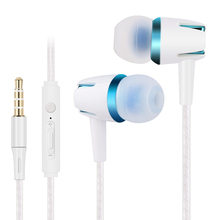 3.5mm Stereo In-Ear Earphone with MIC Bass Speaker Earbuds DSP Noise Reduction Wired Headset for Xiaomi Huawei LG Samsung Lenovo