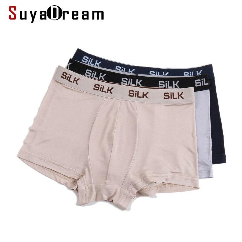 Calções HOMENS BOXER 100% Natural de Seda Mens shorts underwear calzoncillos calcinha Saudáveis calcinha lingerie calcinha Sólida