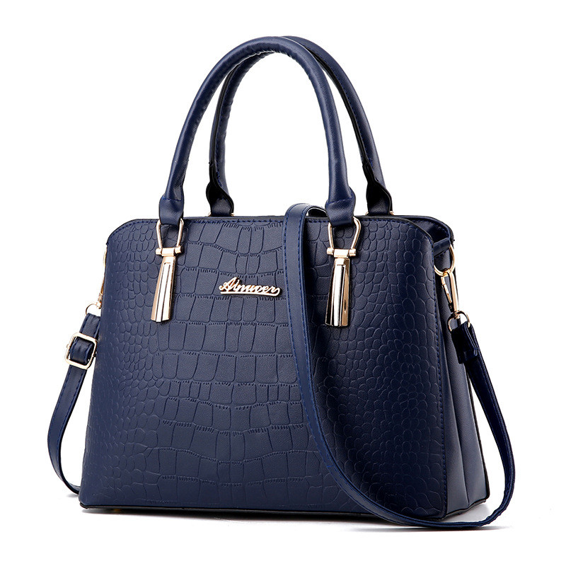 ZHIERNA Woman famous brands designer high quality Black  PU leather bag ladies Crocodile pattern Women messenger bags handbags famous brands handmade women shoulder bags fashion high quality designer black leather handbags ladies knitting messenger bag b