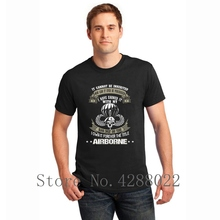 Airborne Ive Earned It With My Blood And Tears T Shirt For Men Knitted Casual Clothes Homme Cotton Hilarious Hip Hop