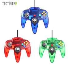 USB Wired Controller For N64 Gamepad Transparent Clear Wired Joystick For Gamecube GC For N64 64 PC For Mac Joypad