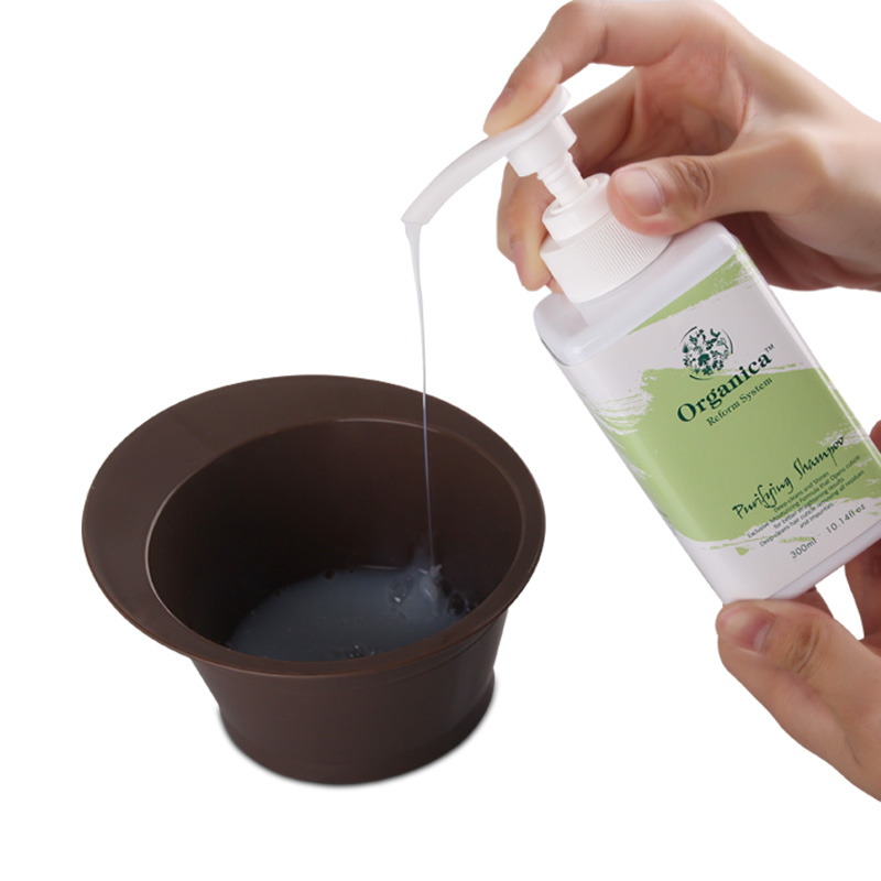 Купить с кэшбэком 100% Natural Botanicals Set 300ml Purifying Shampoo+300ml Shape Keratin+Smooth Booster Straighten and Smooth Strong Cruly Hair
