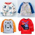 Brand 2016 long sleeve kids clothes child spring autumn100%cotton boy's t shirt 1-6Y Tees Baby  blouse jacket  sweater lion cars