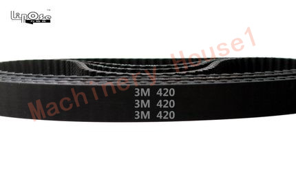 10 pieces/pack HTD3M belt 420 HTD 3M timing belt teeth 140 width 8mm length 420mm rubber closed-loop belt 420-3M for shredder