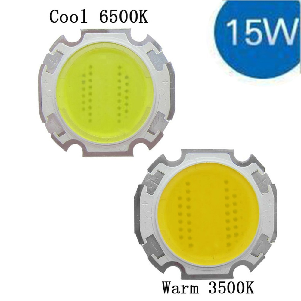 15W Cool / Warm White High Power Round COB LED SMD Light Part Bulb Lamp 1500LM DC45-51V