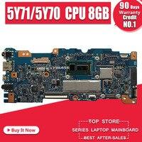 Com 5y71/5y70 8 gb ram ux305fa placa-mãe do portátil para For Asus ux305fa ux305f ux305 u305 u305f placa-mãe mianboard 100% teste