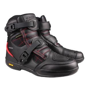 Image 2 - SCOYCO دراجة نارية أحذية الرجال مقاوم للماء موتو أحذية فو الجلود موتوكروس على الطرق الوعرة سباق الأحذية T020W