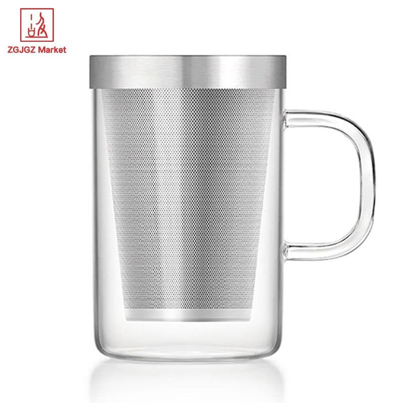 Samadoyo Dual Purpose Glass Cup Tea Set 500ml Tea Cup Mugs Wedding ...