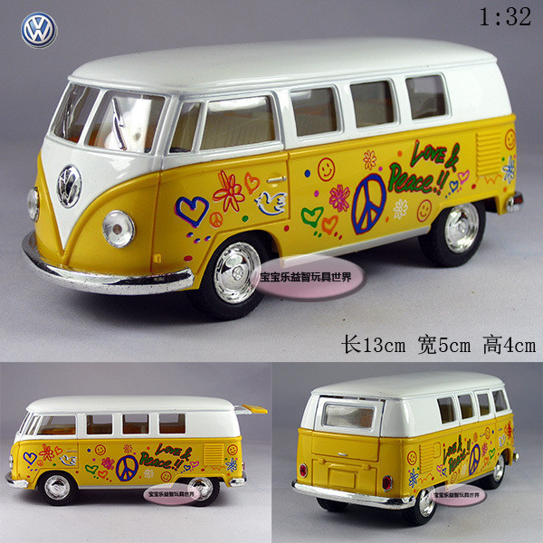 Free shipping Soft world volkswagen classic doodle bus alloy car model