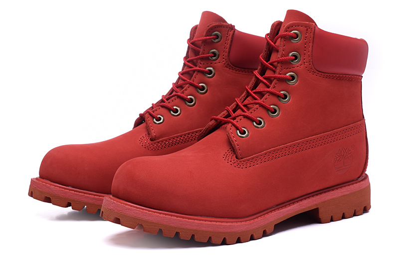 8abcca3ac0b TIMBERLAND Classic Men 10061 All Red Premium Ankle Boots
