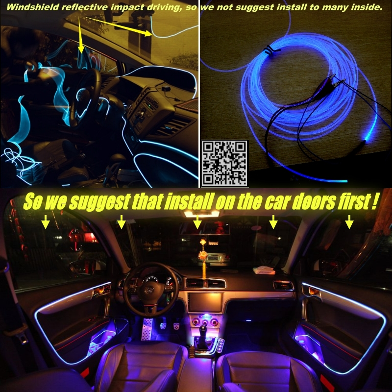 Interior Ambient Light Tuning Atmosphere Fiber Optic Band Lights For Ford  For Mondeo / Contour Inside Door Panel Illumination In Signal Lamp From ...